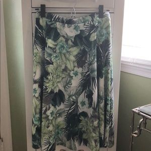 F21 Tropical Print A-Line skirt NWT